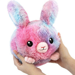 squishable cotton candy bunny